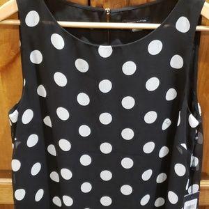 Tommy Hilfiger black and white polka dress